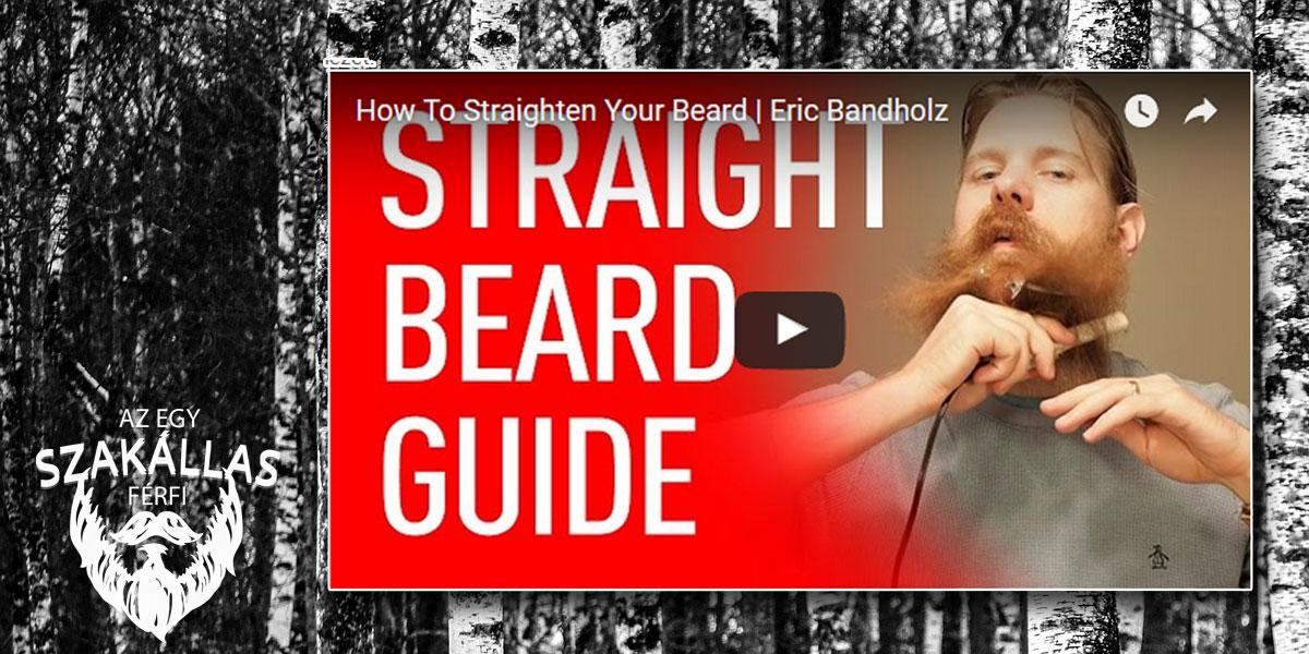 Eric Bandholz segít karbantartani a szakállad