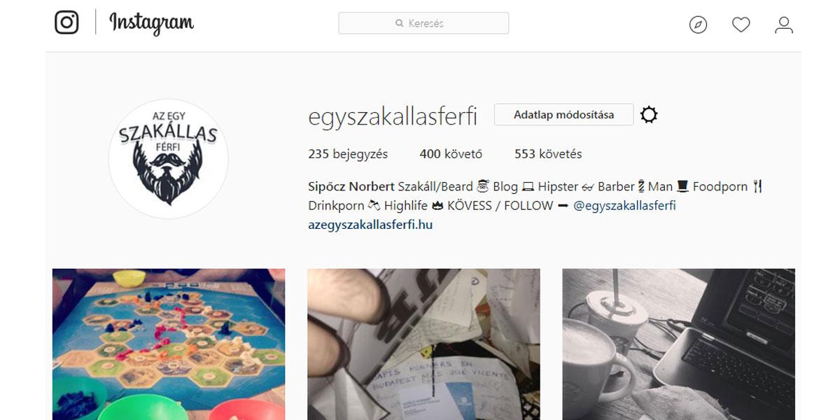 Az Egy szakállas férfi és a 400 Instagram követő szomorú története